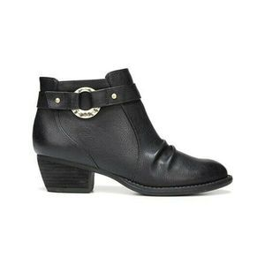 Dr Scholls Janessa Bootie Ankle Boots Black Vegan